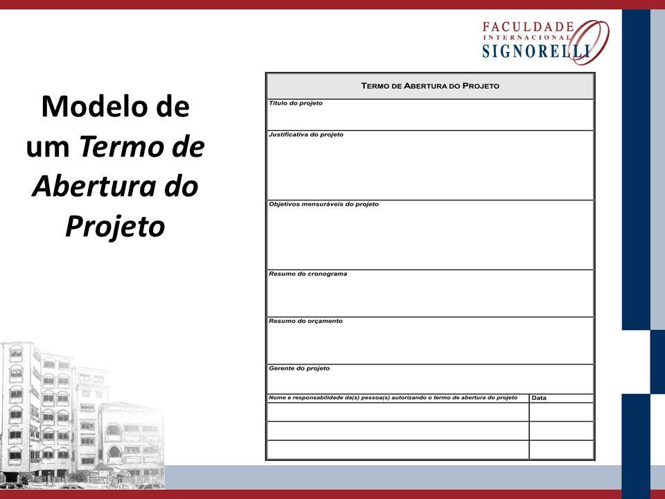 Modelo de um Termo de Abertura do Projeto