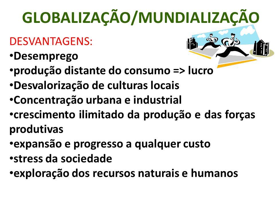 GLOBALIZAÇÃO/MUNDIALIZAÇÃO