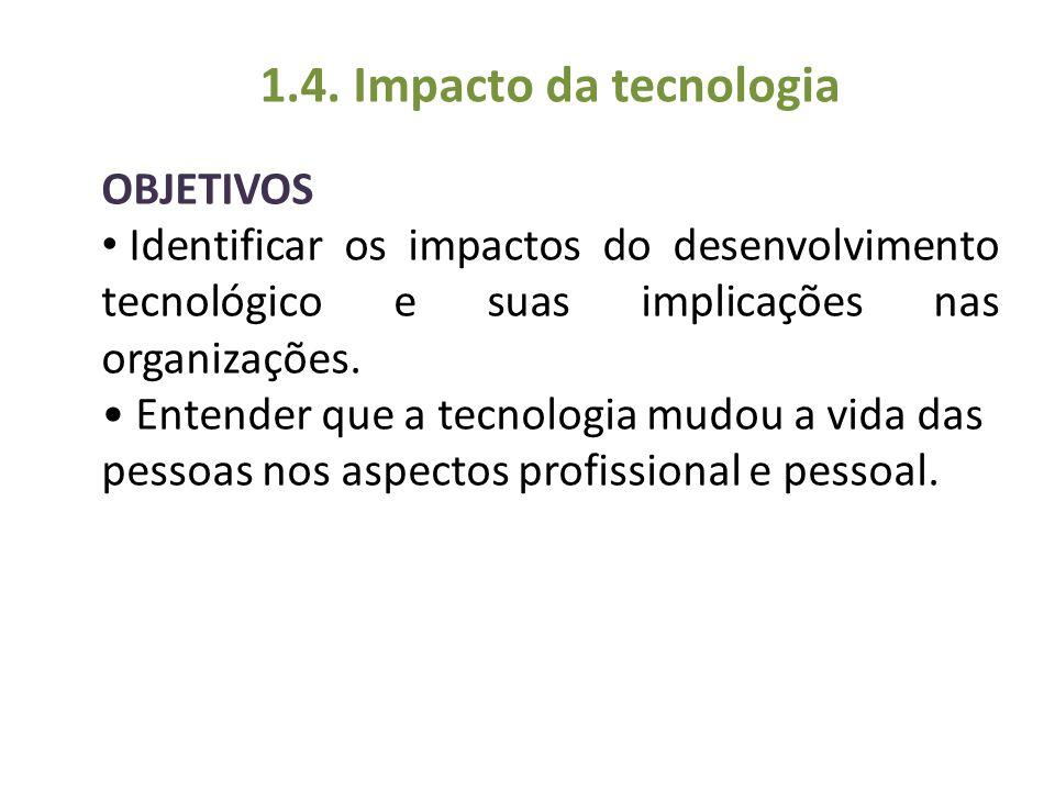 1.4. Impacto da tecnologia OBJETIVOS