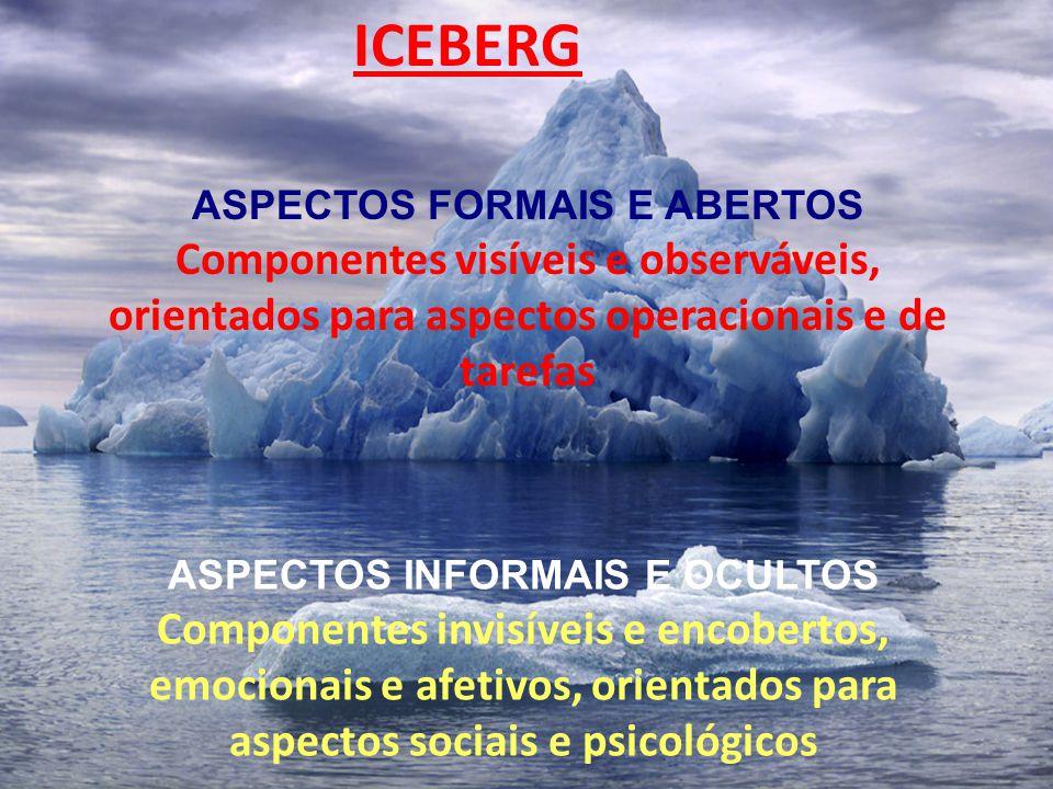 ASPECTOS FORMAIS E ABERTOS ASPECTOS INFORMAIS E OCULTOS