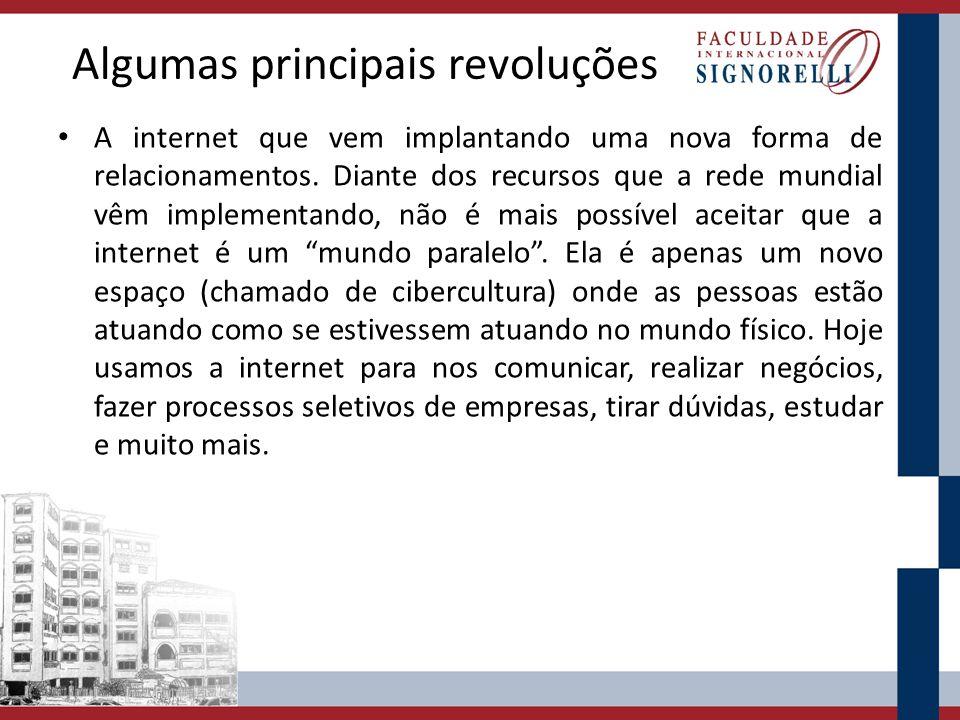 Algumas principais revoluções