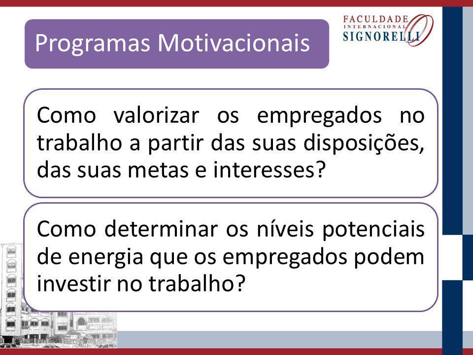 Programas Motivacionais