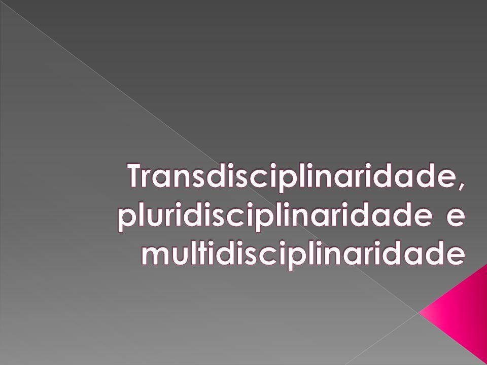 Transdisciplinaridade, pluridisciplinaridade e multidisciplinaridade
