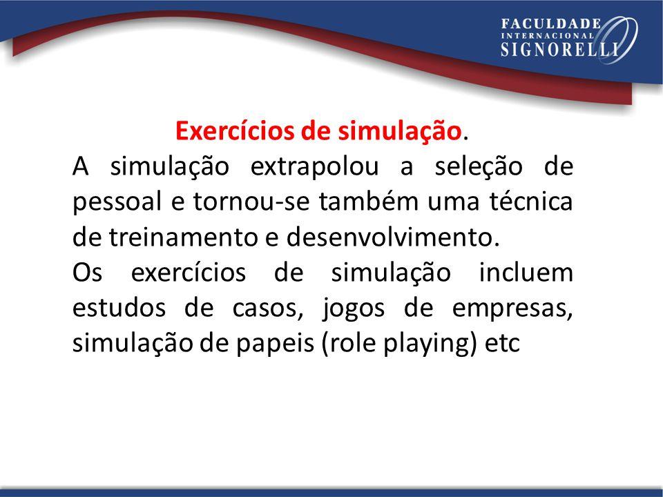 Exercícios de simulação.