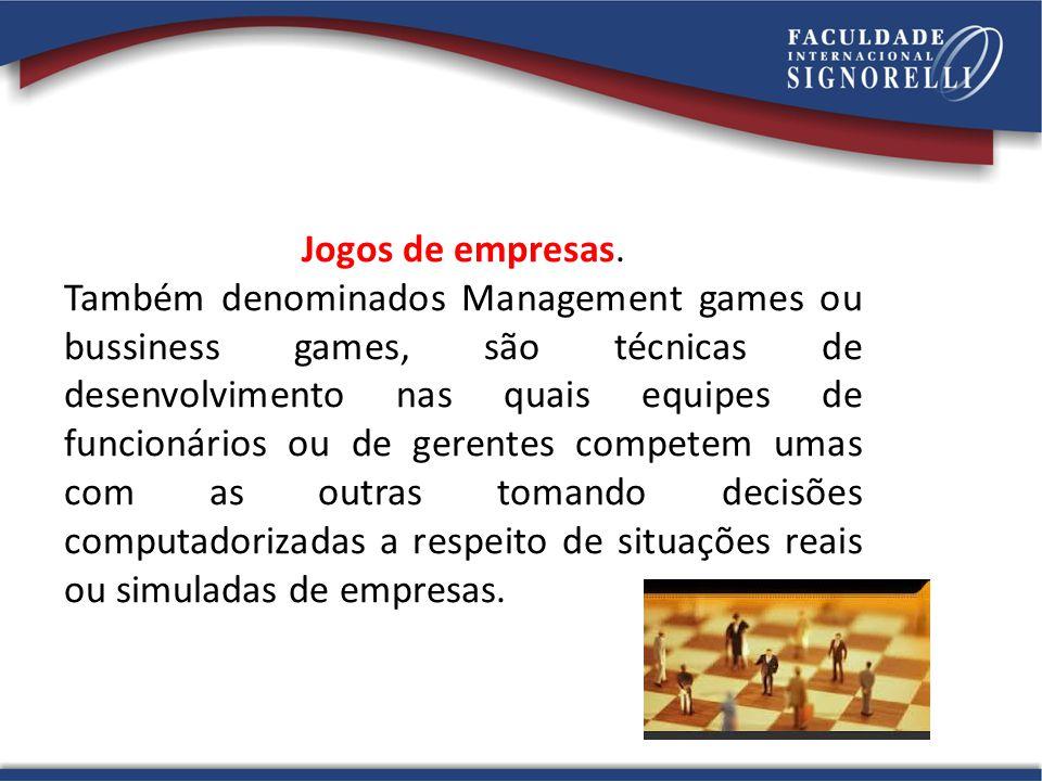 Jogos de empresas.