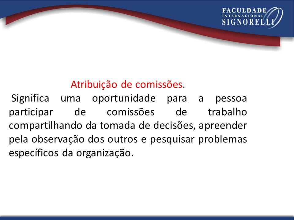 Atribuição de comissões.