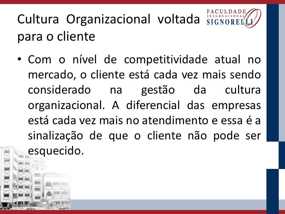 Cultura Organizacional voltada para o cliente