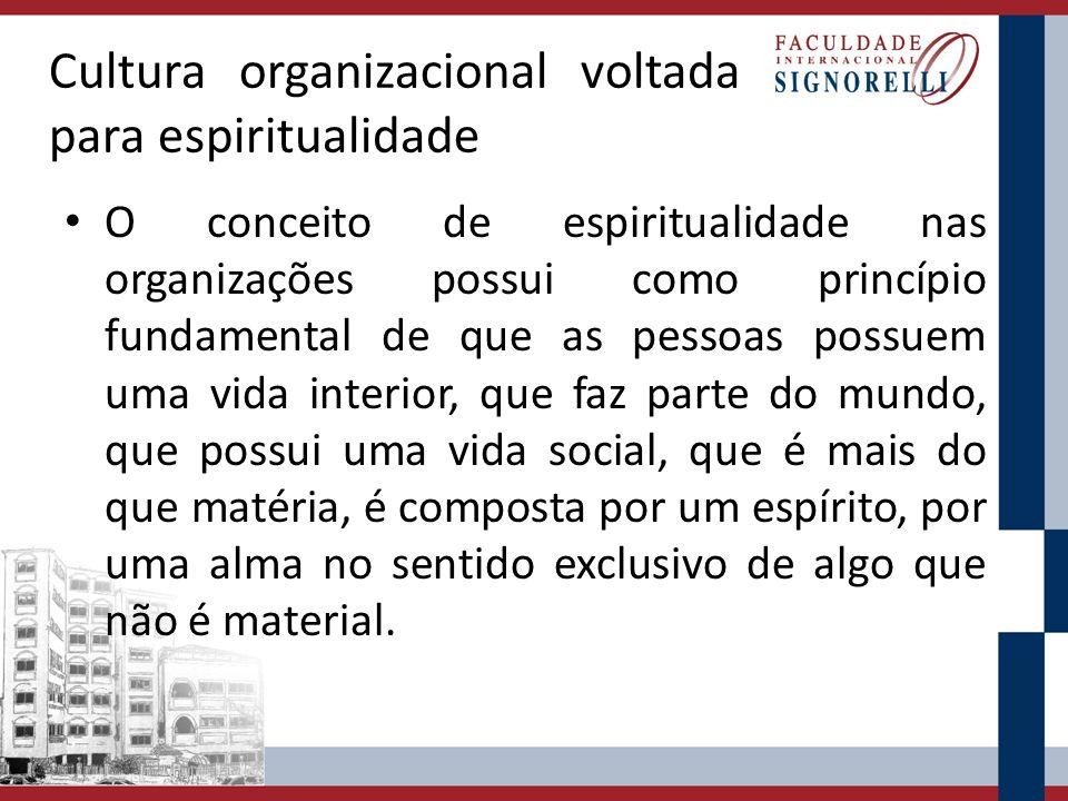 Cultura organizacional voltada para espiritualidade