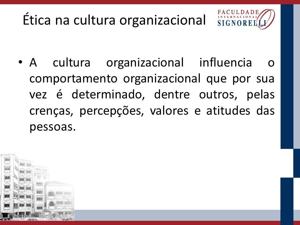 Ética na cultura organizacional