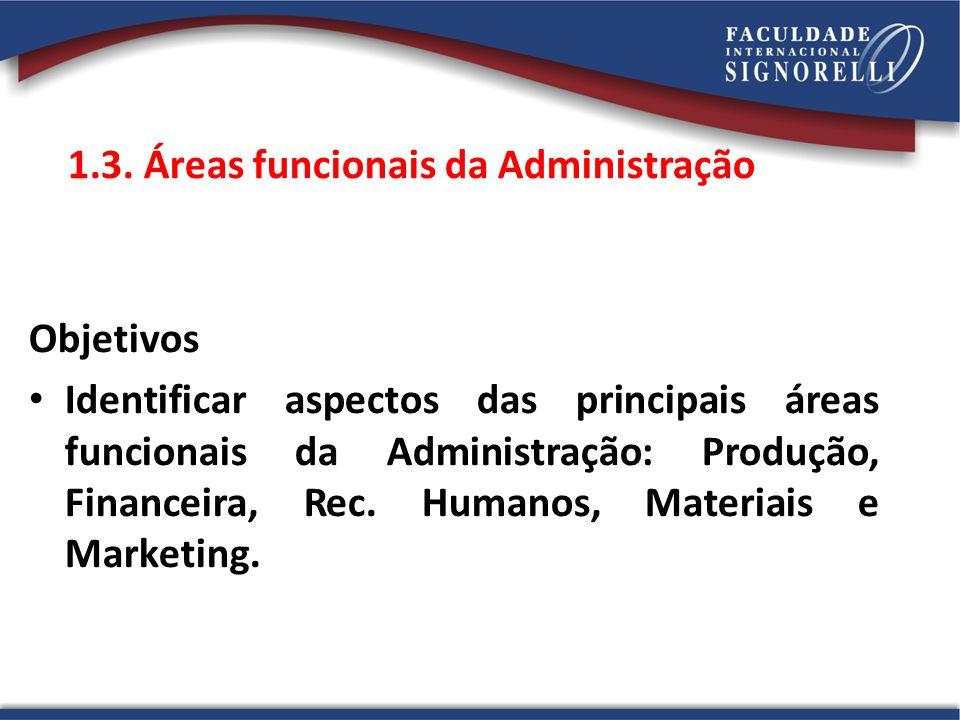 1.3. Áreas funcionais da Administração