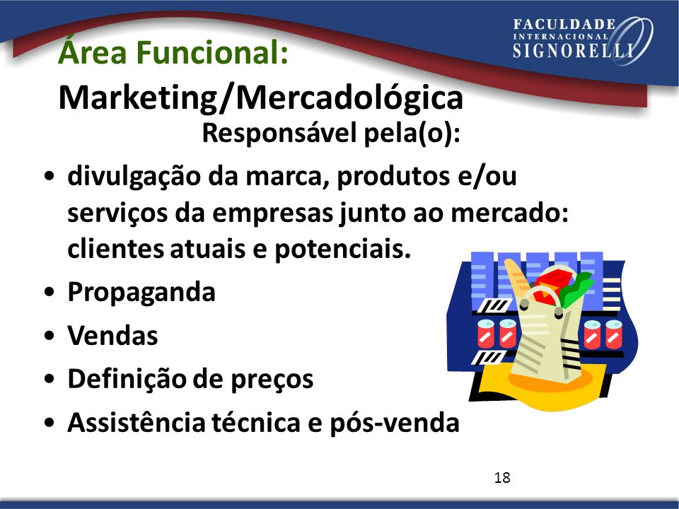 Área Funcional: Marketing/Mercadológica