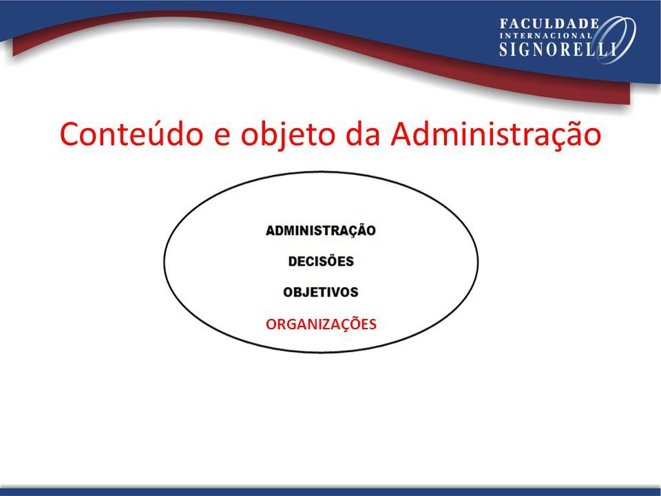 Conteúdo e objeto da Administração