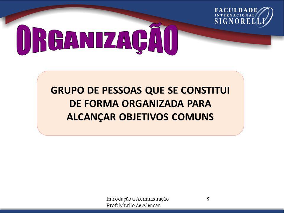 ORGANIZAÇÃO GRUPO DE PESSOAS QUE SE CONSTITUI DE FORMA ORGANIZADA PARA