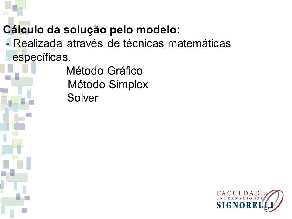 Cálculo da solução pelo modelo: