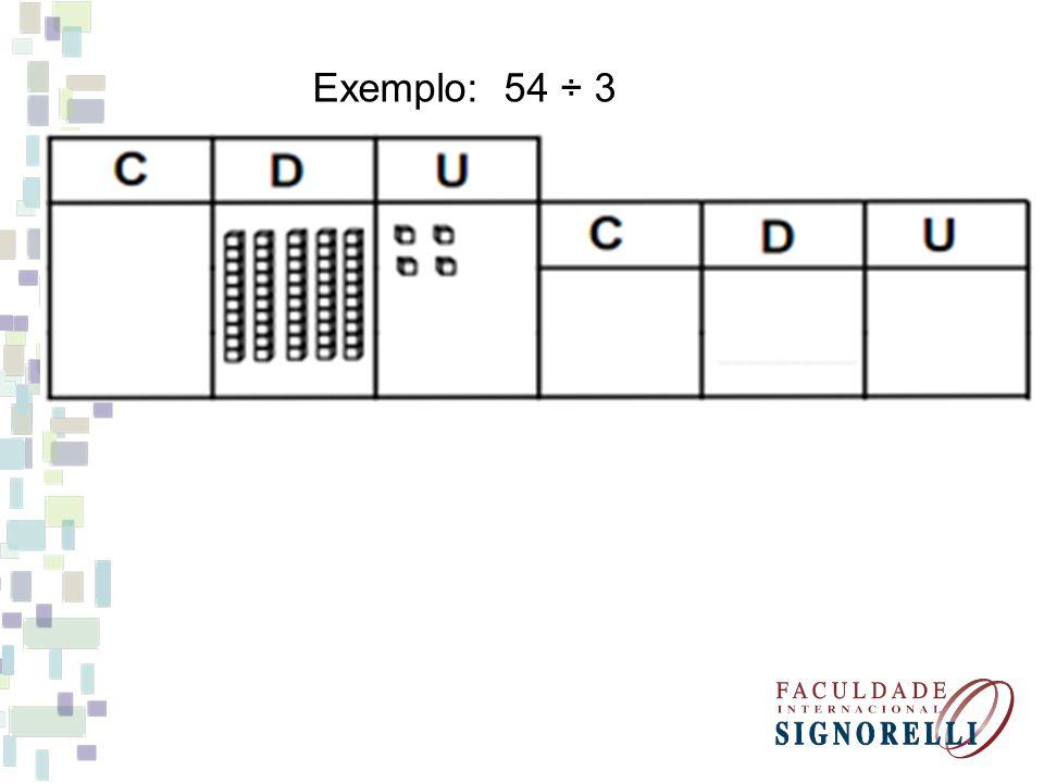 Exemplo: 54 ÷ 3