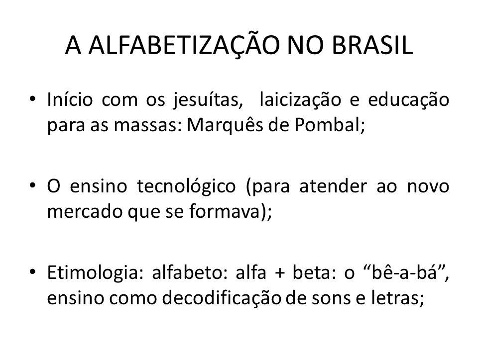 A ALFABETIZAÇÃO NO BRASIL