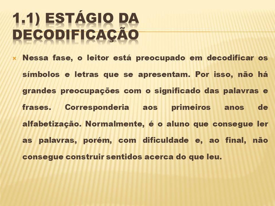 1.1) Estágio da decodificação