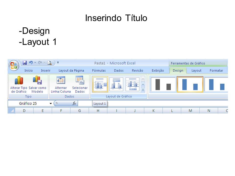 Inserindo Título Design Layout 1