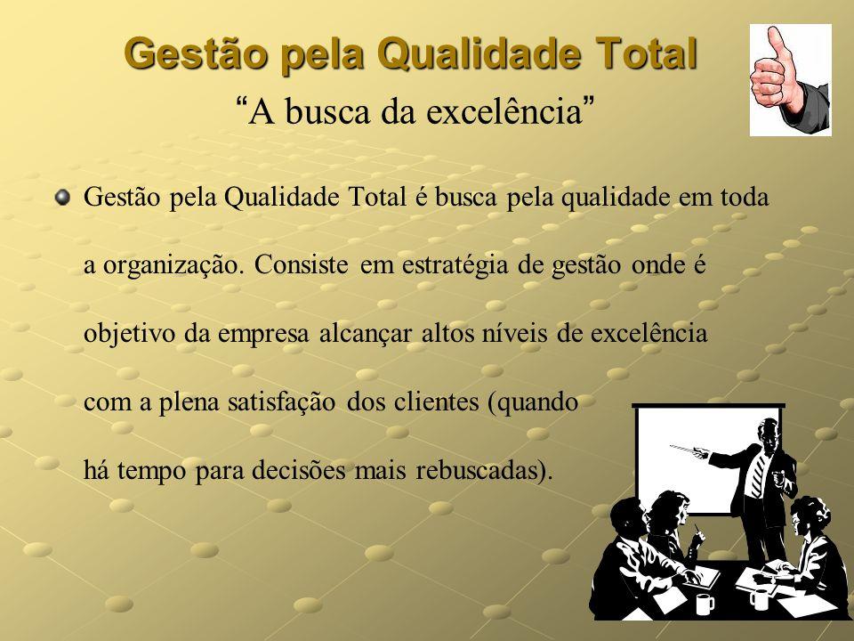 Gestão pela Qualidade Total A busca da excelência