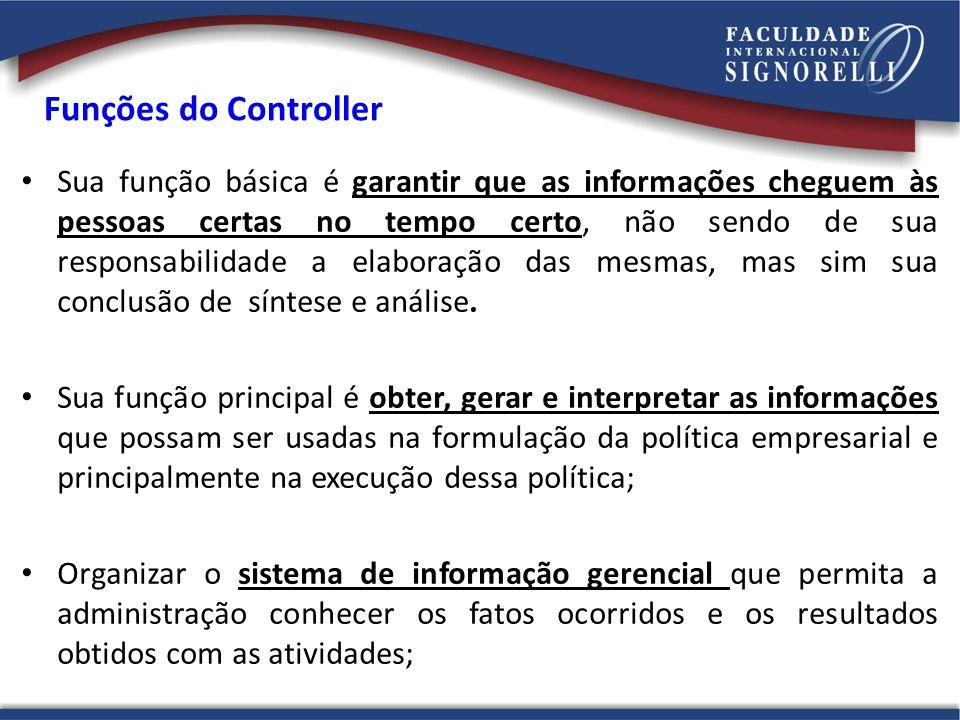 Funções do Controller