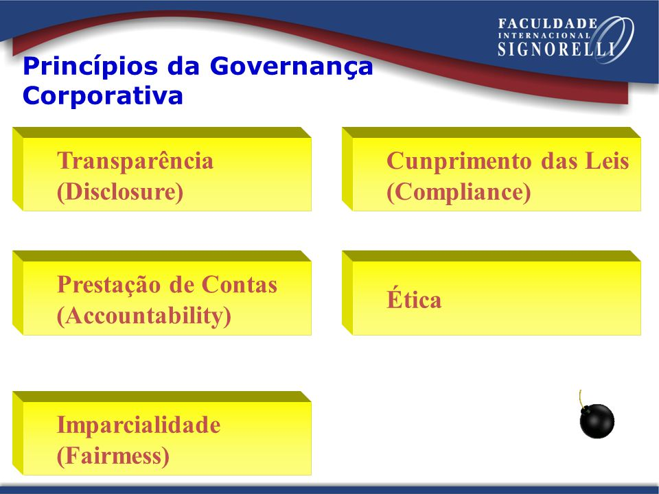 Princípios da Governança Corporativa