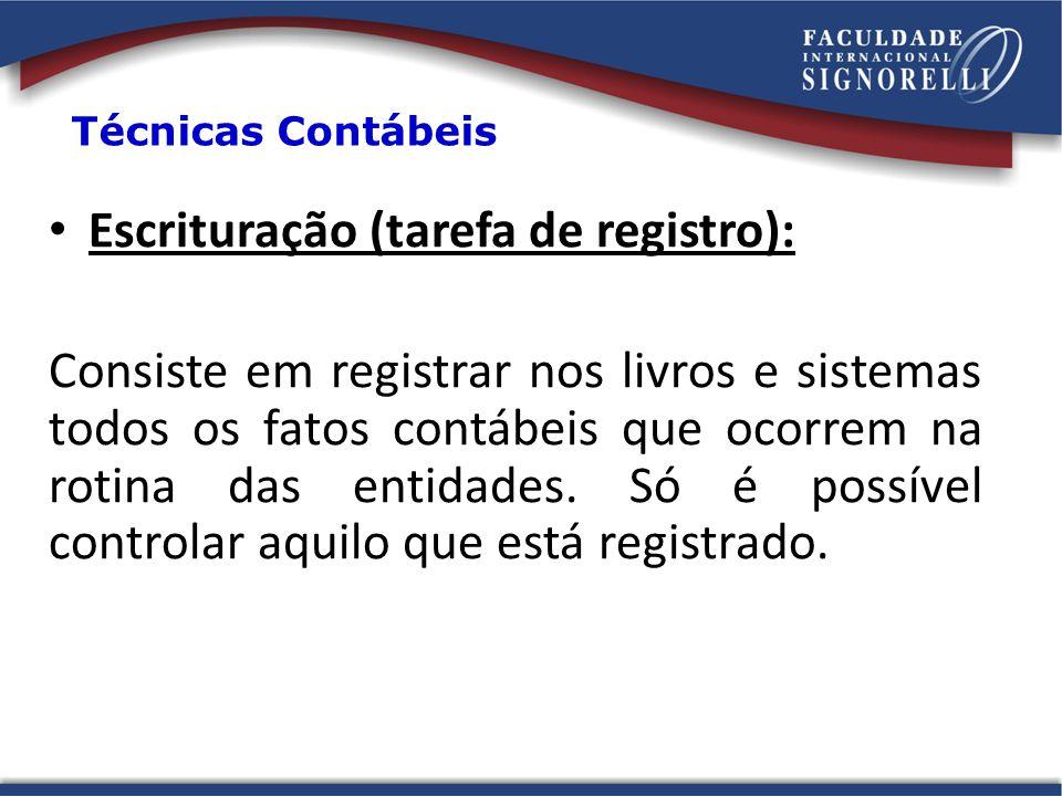 Escrituração (tarefa de registro):