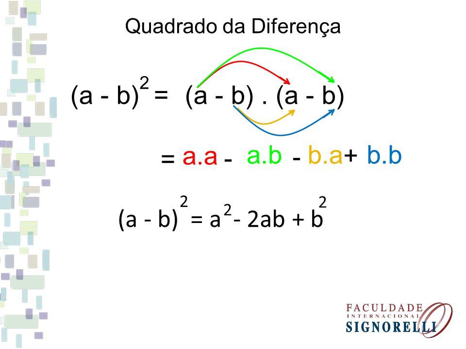 (a - b) = (a - b) . (a - b) a.a b.b a.b b.a = - - +