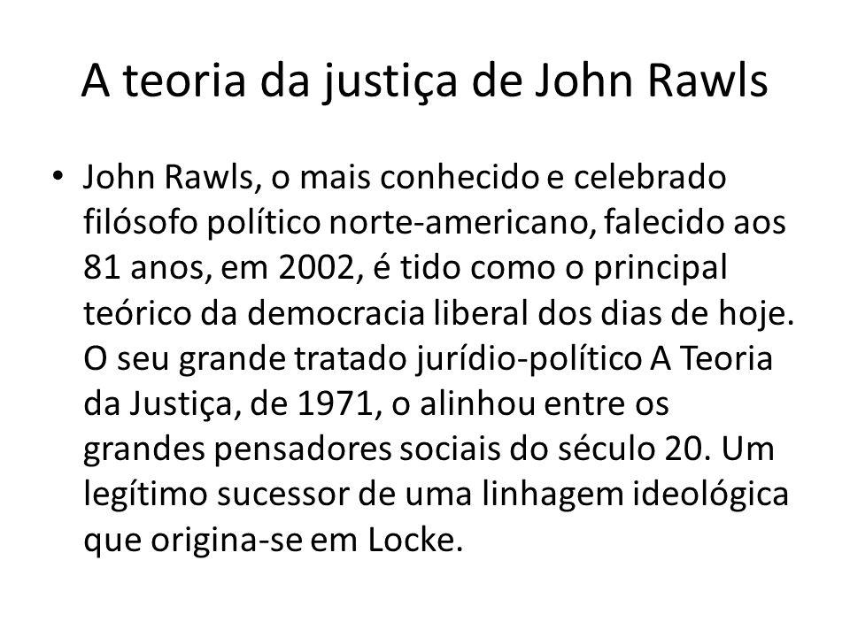 A teoria da justiça de John Rawls