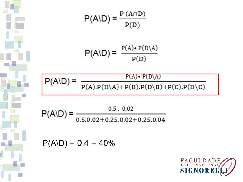 P(A\D) = 0,4 = 40%