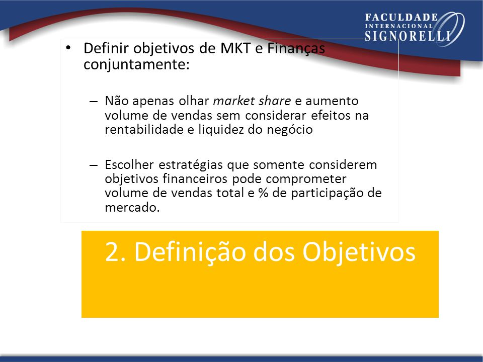 2. Definição dos Objetivos