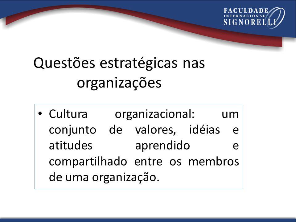 Questões estratégicas nas organizações