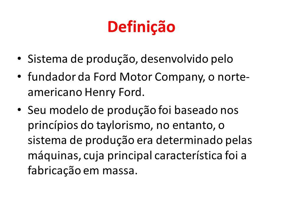 Definição Sistema de produção, desenvolvido pelo
