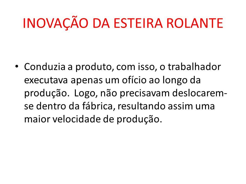 INOVAÇÃO DA ESTEIRA ROLANTE