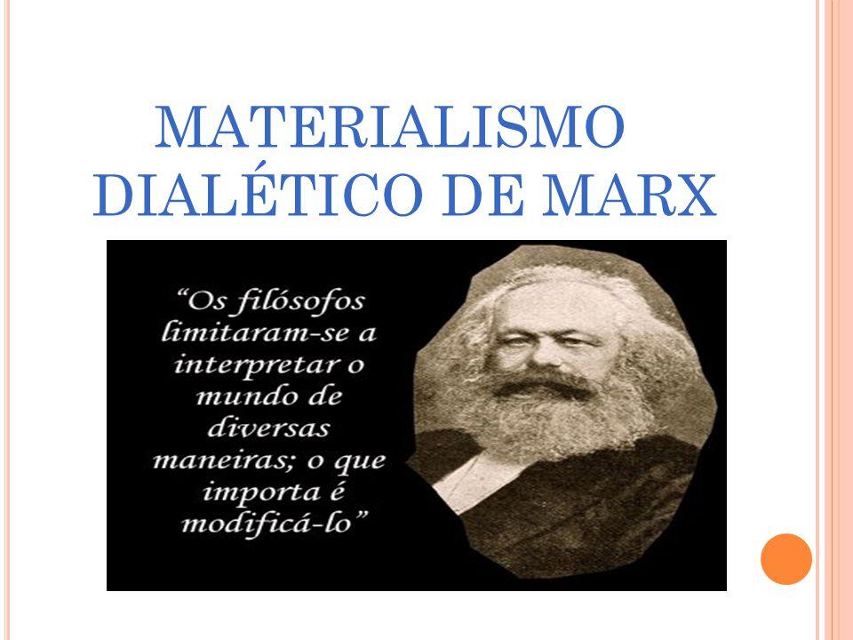 MATERIALISMO DIALÉTICO DE MARX