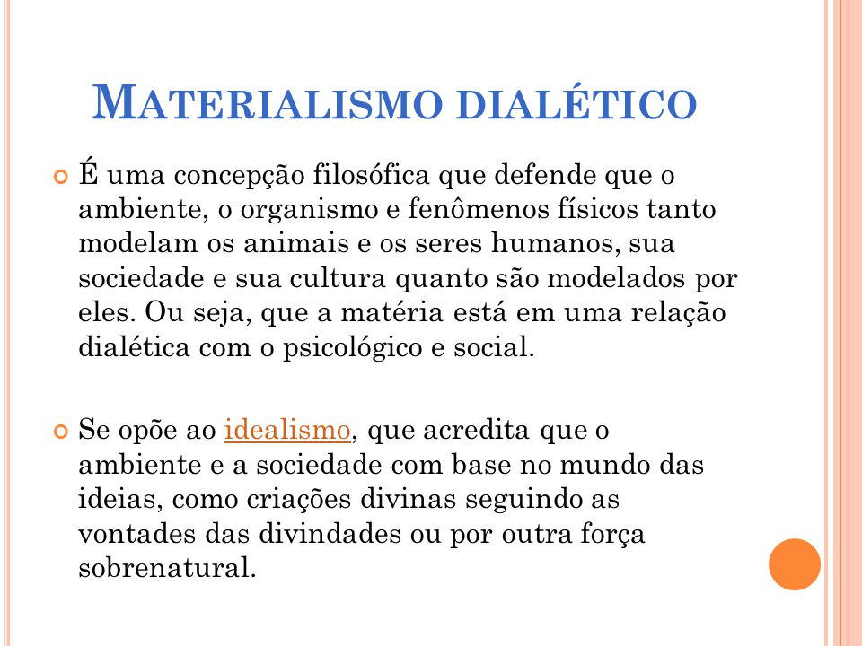 Materialismo dialético