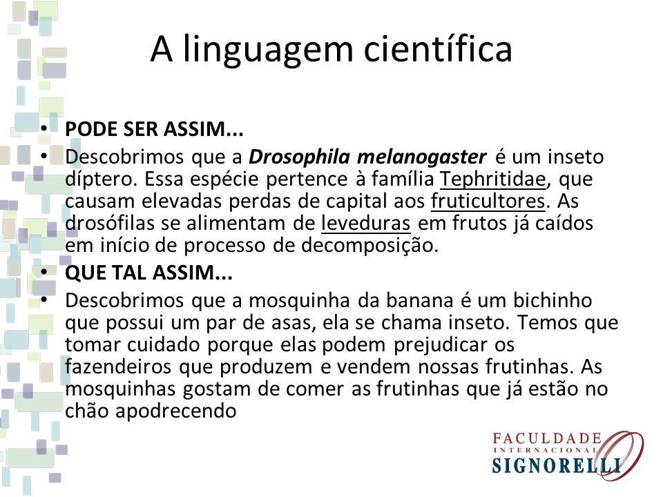 A linguagem científica