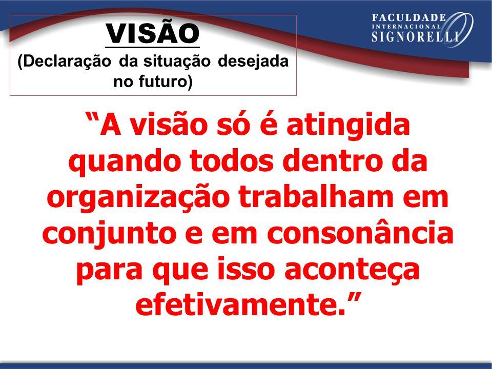 VISÃO (Declaração da situação desejada no futuro)