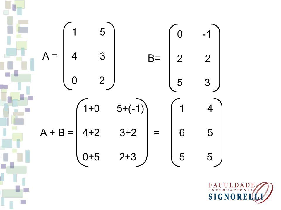 1 5 4 3. 0 2. A = 0 -1. 2 2. 5 3. B= 1+0 5+(-1)