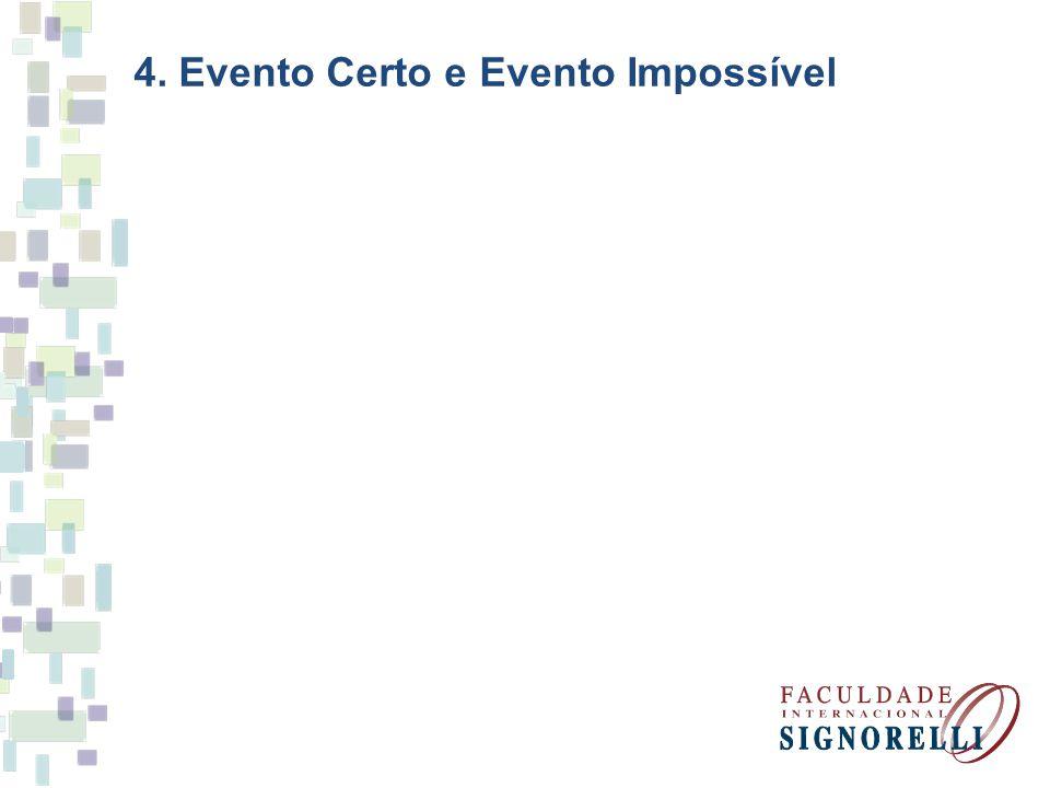 4. Evento Certo e Evento Impossível