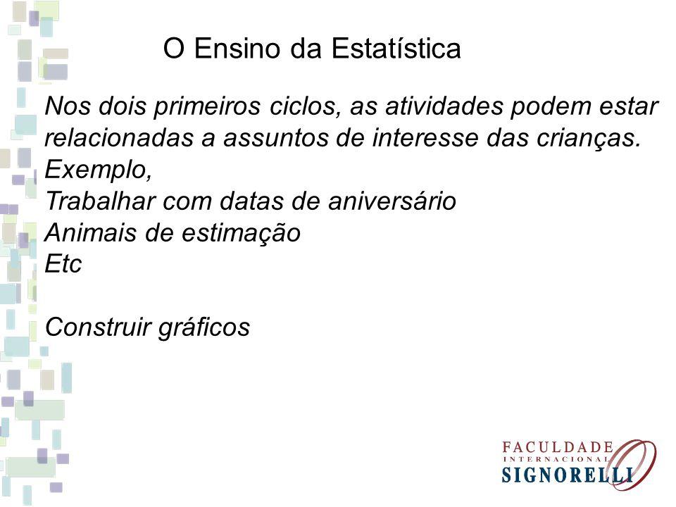 O Ensino da Estatística