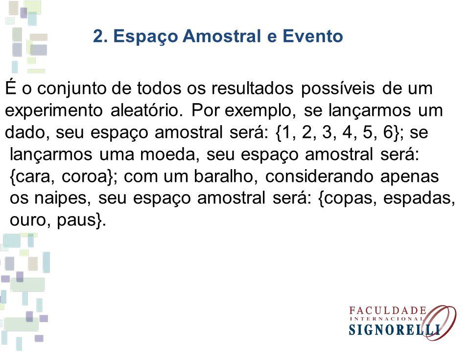 2. Espaço Amostral e Evento