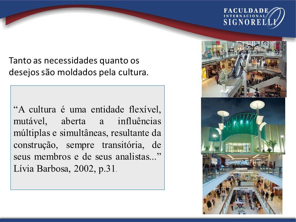 Tanto as necessidades quanto os desejos são moldados pela cultura.
