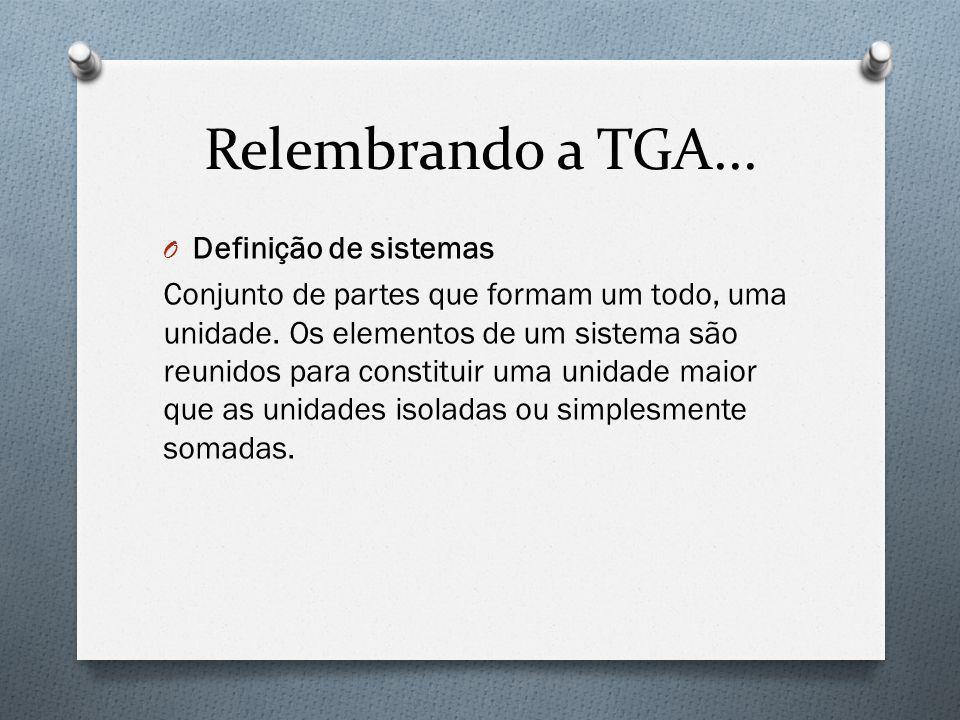 Relembrando a TGA... Definição de sistemas