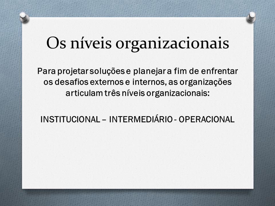 Os níveis organizacionais