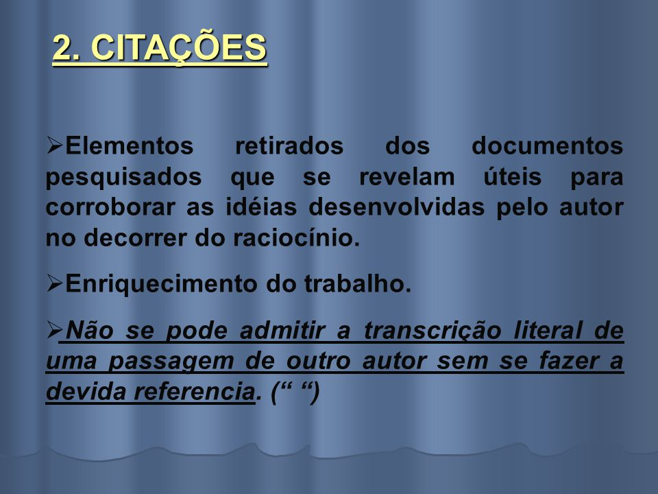 2. CITAÇÕES