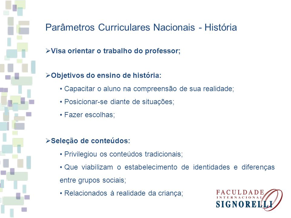 Parâmetros Curriculares Nacionais - História