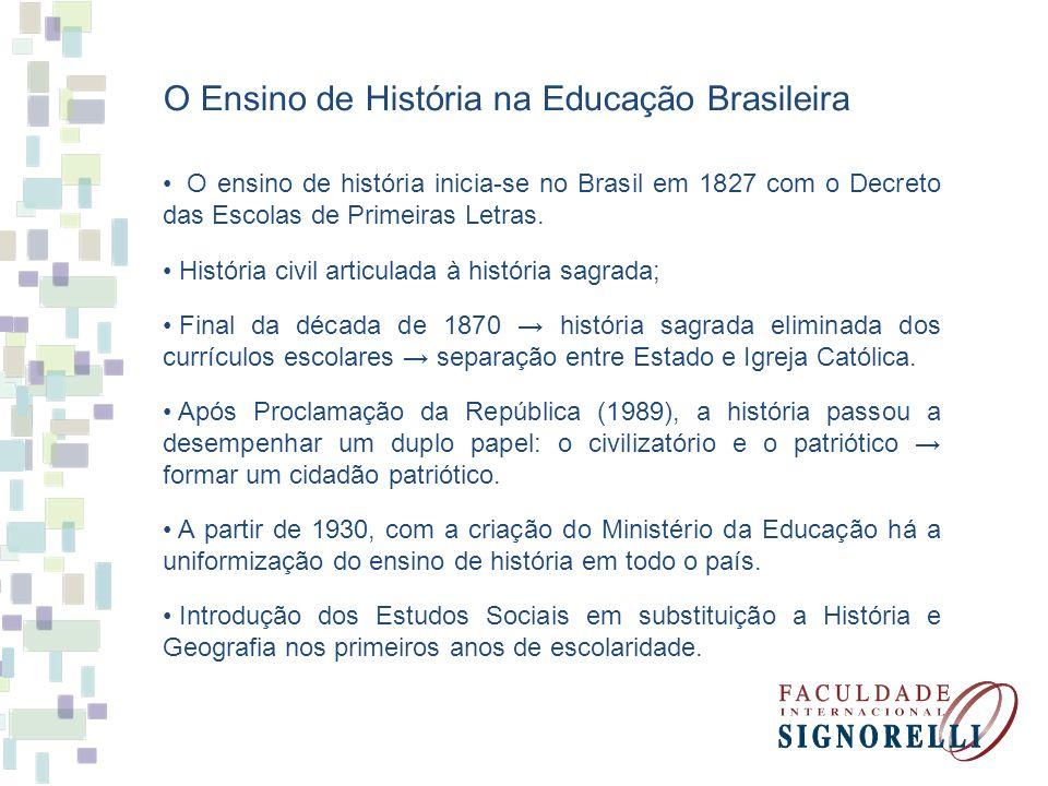 O Ensino de História na Educação Brasileira