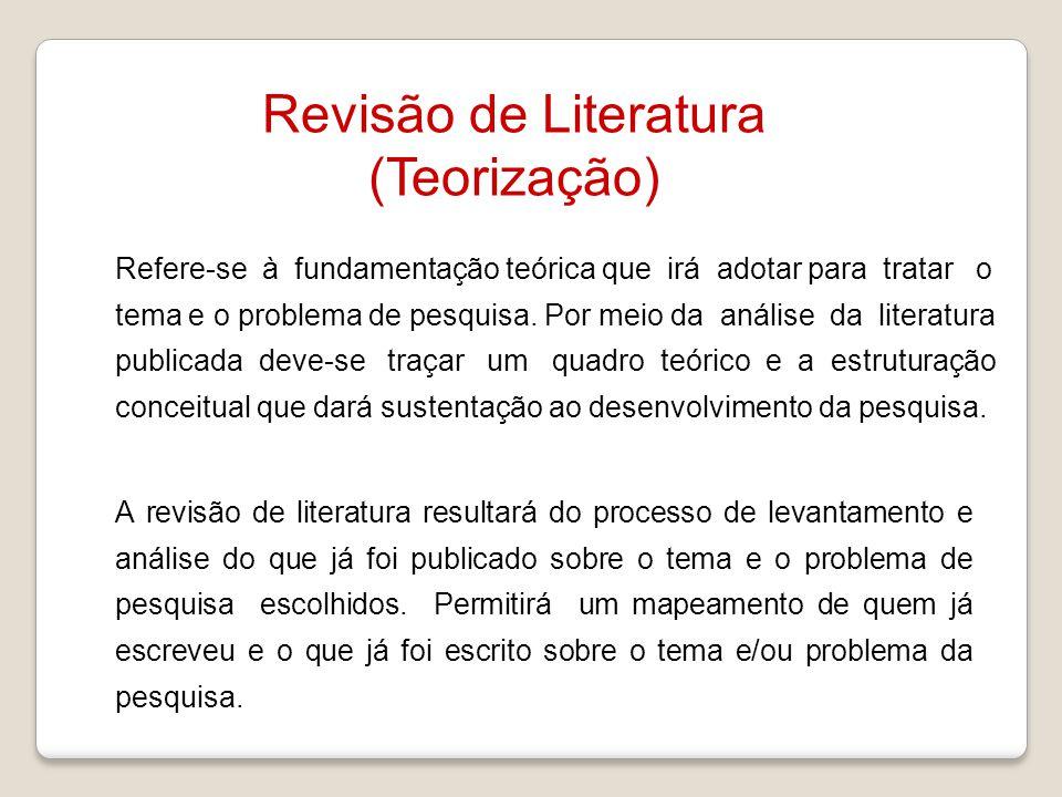 Revisão de Literatura (Teorização)