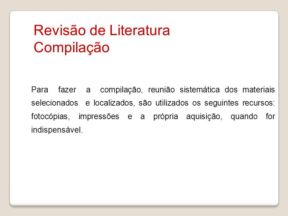 Revisão de Literatura Compilação