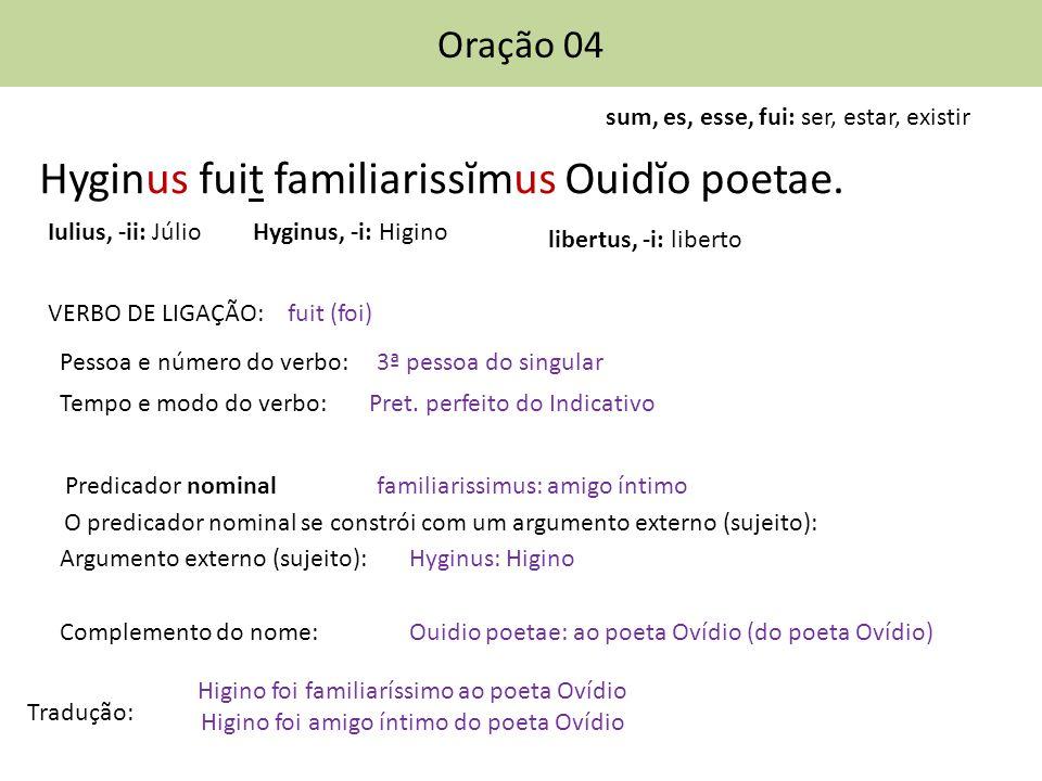 Hyginus fuit familiarissĭmus Ouidĭo poetae.